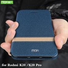 Mofi สำหรับสีแดง Mi K20 Pro กรณี Xiao Mi K20 สำหรับ Mi K20 Pro กรณีพลิก Xio Mi ที่อยู่อาศัย TPU PU หนังซิลิโคนอ่อน
