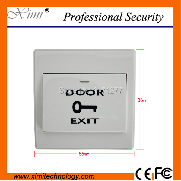 Free shipping 10pcs per box for all kinds doors with back box plastic exit button exit switch for free shipping 323 sea fuxing 2 glass doors lifter qianmen elevator machine
