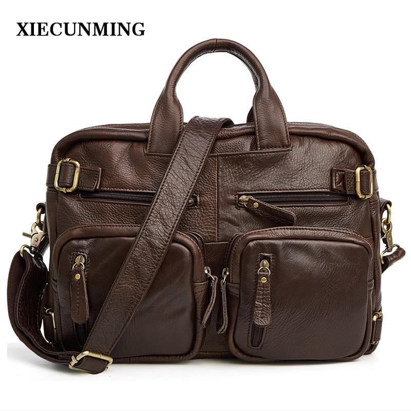 2019new leather men's bag fashion casual men's travel bag high quality men's business Messenger bag shoulder bag men's briefcase