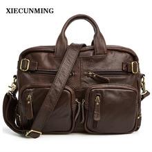 2018new leather men's bag fashion casual men's travel bag high quality men's business Messenger bag shoulder bag men's briefcase