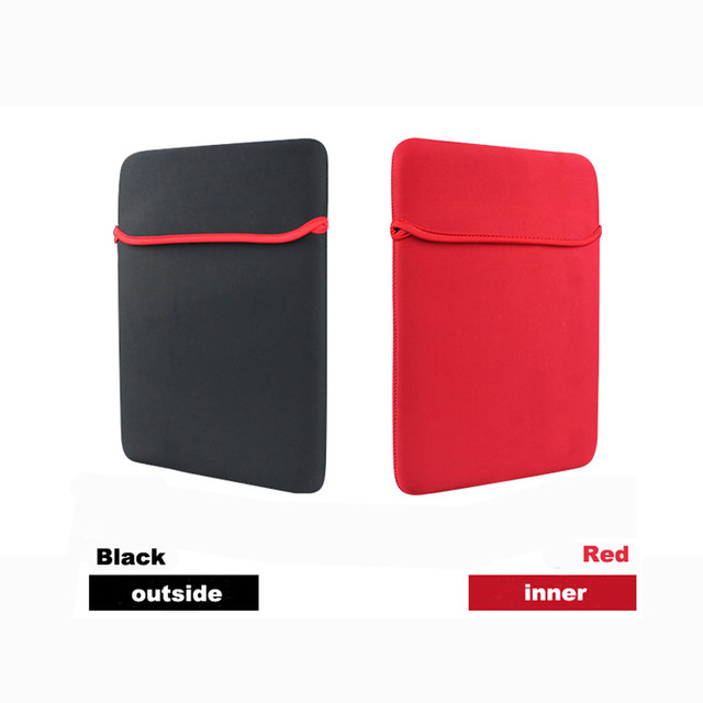 "Free Shipping Dual Sided/Color (Black & Red) Laptop/Notebook/PC/Tablet Waterproof Protective Case for size from  7″  to "" 15″"