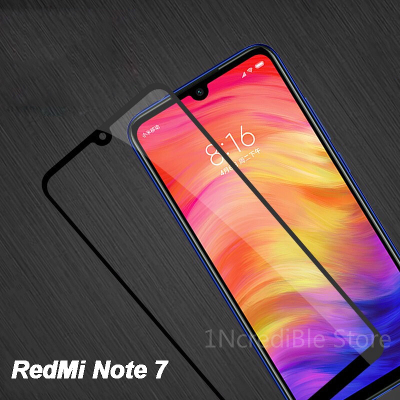 Protective Glass On the For Xiaomi Redmi Note 7 Glass For Xiomi Redmi note 7 Tempered Glass Full Cover Screen Protector 6.3 inch