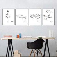 מינימליסטי פבלו פיקאסו תקציר בד ציור שמן אמנות קיר חיות פוסטר איור לסלון ללא מסגרת בית תפאורה