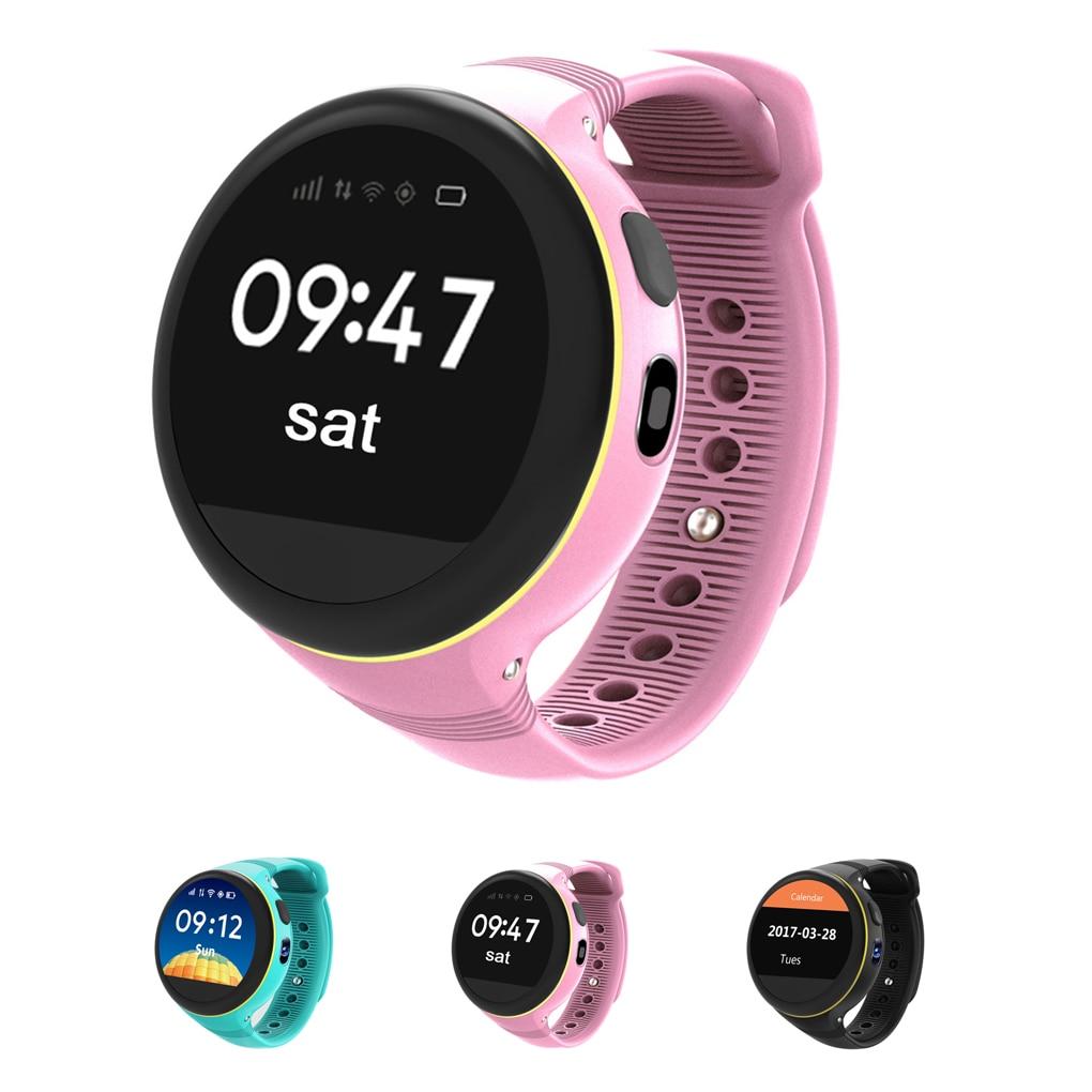 S668 Children Smart Watch Waterproof Round Screen SIM card GPS SOS Smartwatch Remote Viewfinder Watches for Kids цена 2017