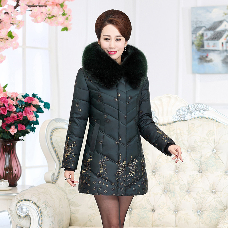 Winter Coat Women Large Fur Collar Wadded Padded Coats Jacket Female Hooded Down Cotton Winter Coat Plus Size Parka Mujer C2623 цены онлайн