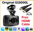 Precio bajo 2.7 '' LCD del coche DVR GS8000L Full HD 1080 P 30FPS + HDMI / 140 Degree ángulo de visión de la cámara del DVR
