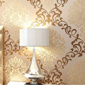Modern gold damascus wallpaper roll size for  hot sales designs for decor tv background and bed background