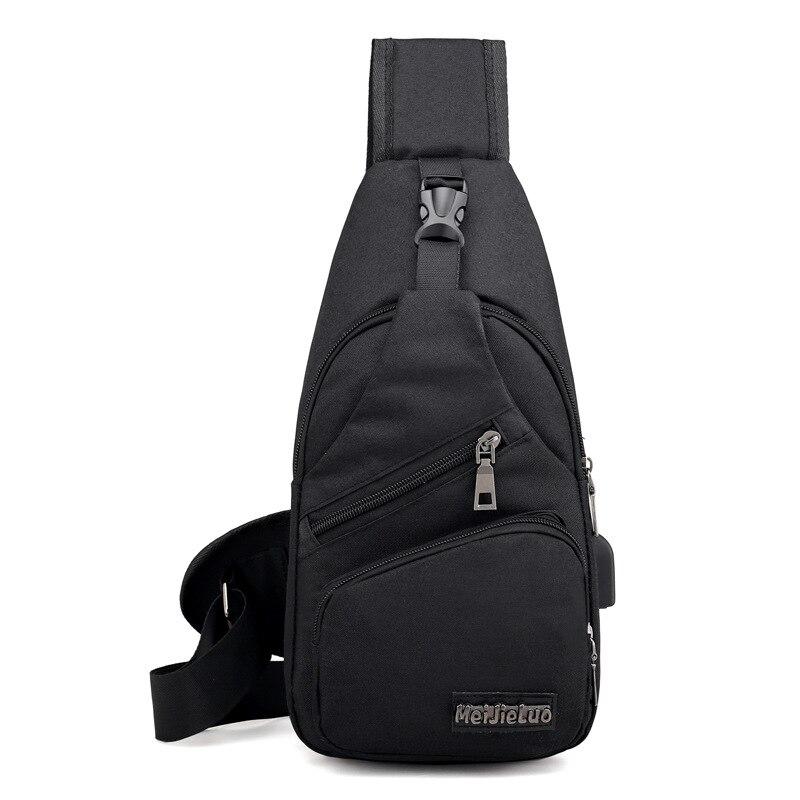 Men's Anti Theft USB Charging Cross body Shoulder Bags 1