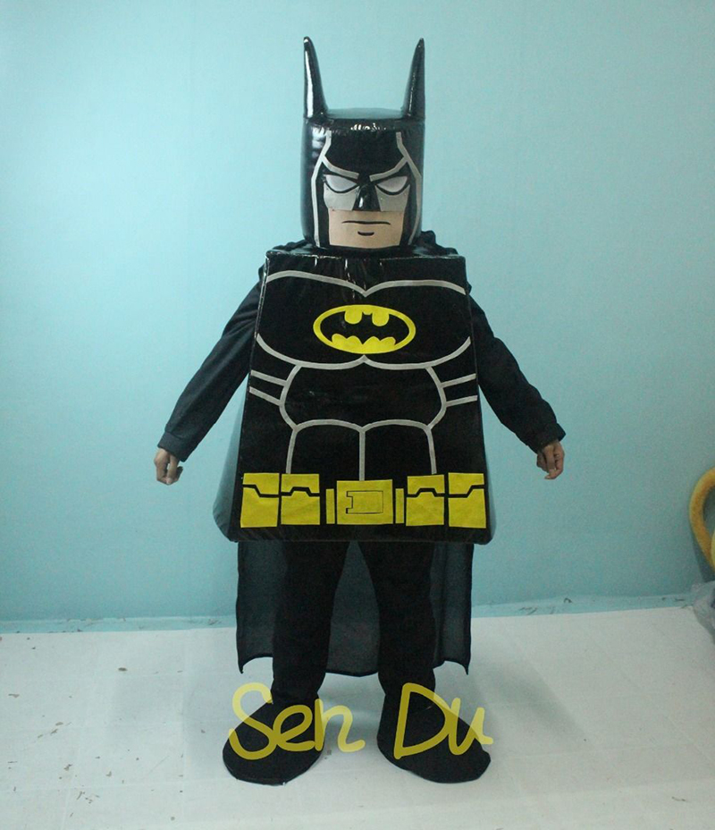 Lego Batman Personalizar desenhos animados do traje da mascote caráter cosplay Carnaval Costume Fancy Dress