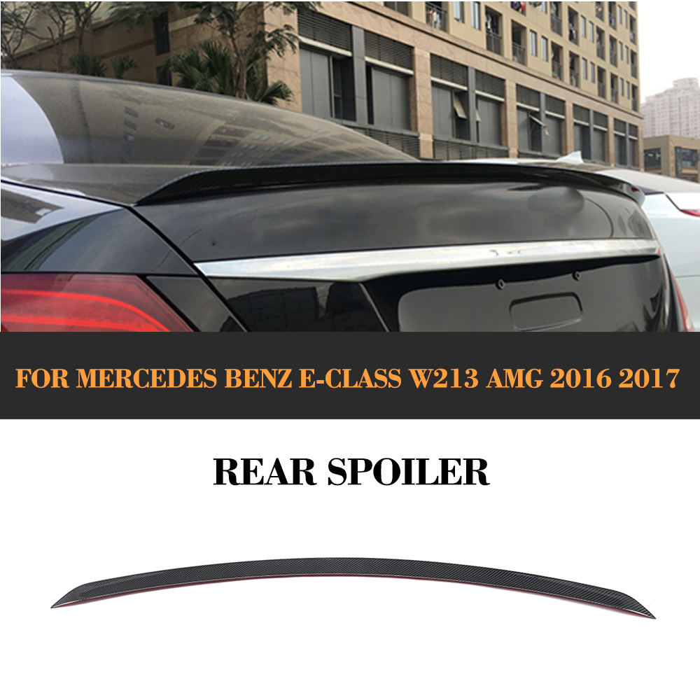 Carbon fiber Rear Trunk Boot Spoiler Wing for Mercedes Benz E-Class W213 E200 E300 E400 E550 E63 AMG Sedan 4-Door 2016 2017 цена