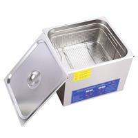 Stainless Steel Ultrasonic Cleaner Bath Digital Ultrasonic Wave Cleaning Tank for Coins Nail Tools Part 15L/ 22L/ 30L etc Choose