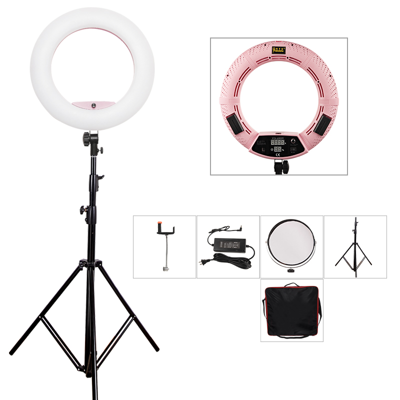 Yidoblo Pink FD-480II Studio Ring Light 480 LED Video Light Digital Lamp Photographic day Lighting + tripod (max 280cm) + bag