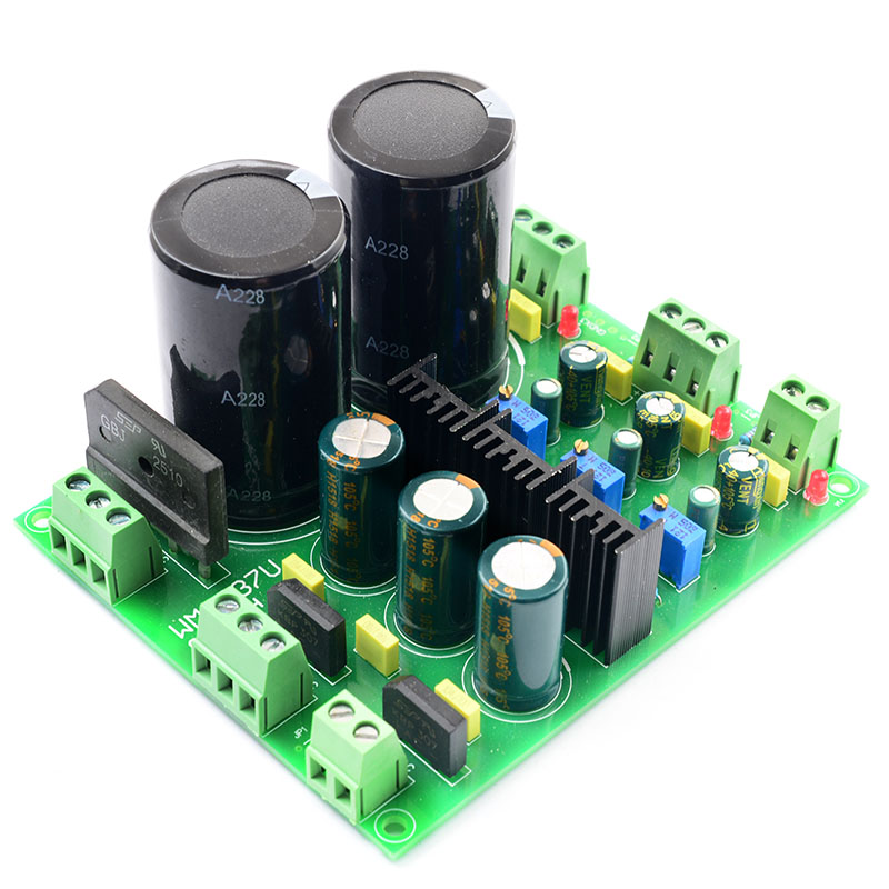 Rectifier Filter Power Supply Board LM317 LM337 Multi-channel Precision Adjustable Rectificatio