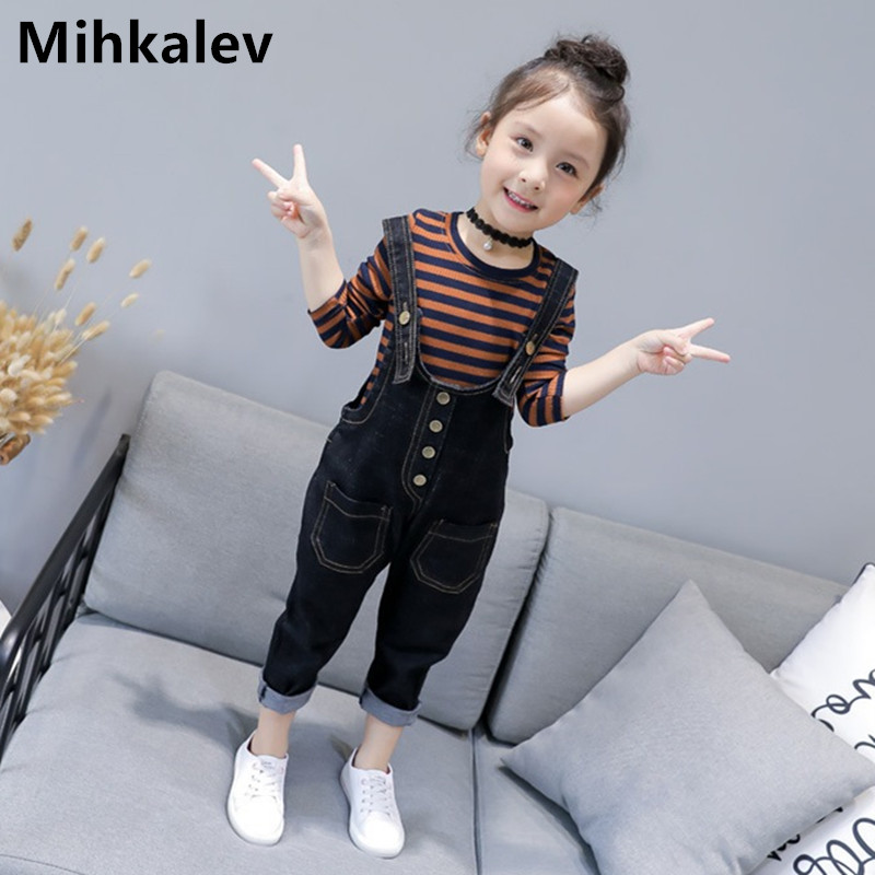 1da8a710e8ca7 Mihkalev 2018 kids girls clothes set spring autumn children clothing sets  long sleeve tshirt+pants 2pieces girl tracksuit