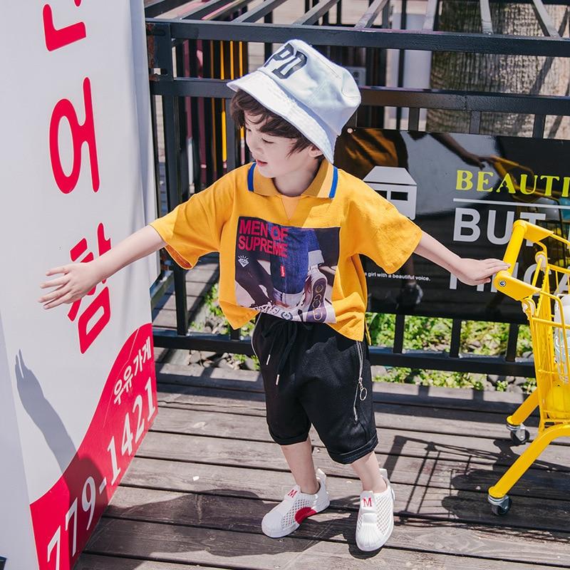 Chłopięce spodnie 2018 nowe letnie dziecięce spodnie letnie - Ubrania dziecięce - Zdjęcie 4