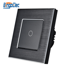 1gang light switch,1gang1way touch switch,EU/UK standard AC110-250V,Hot Sale