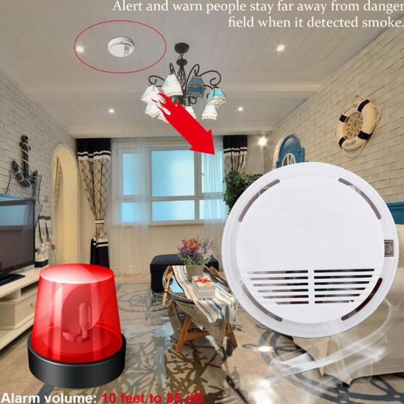Standalone Photoelectric Smoke Alarm Sensor Smoke Detector Alarm Fire Protection Alarm High Sensitivity For Home Security 10 pcs lot standalone wireless smoke detector independant smoke alarm sensor