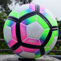 2018 High Quality Champions League Official Size 5 Football Ball Material PU Professional Competition Train Durable