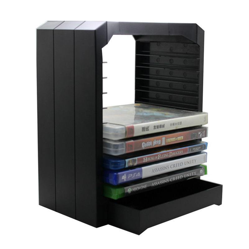 Multifunctional Universal Games & Blu Ray Discs Storage Tower For 10 CD games or Blu-ray discs holder for Xbox One for PS4 5g disc repair ultra paste repair scratches of cd dvd blu ray and games discs