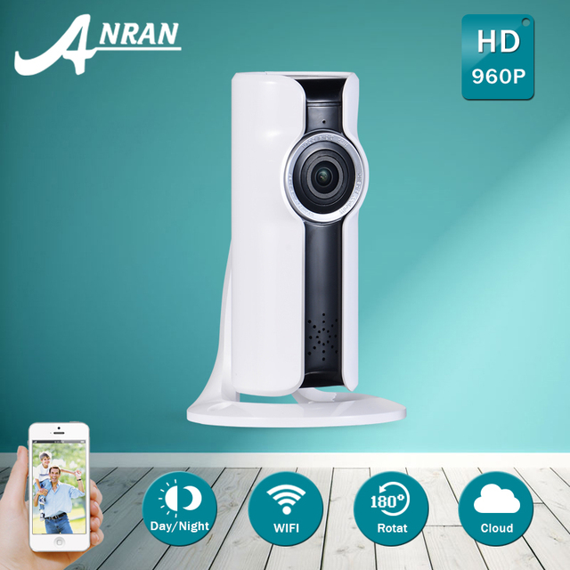 ANRAN Mini Half Panorama 180 Degree VR IP Camera Wifi 960P HD Smart Network Surveillance Night Vision Security Camera