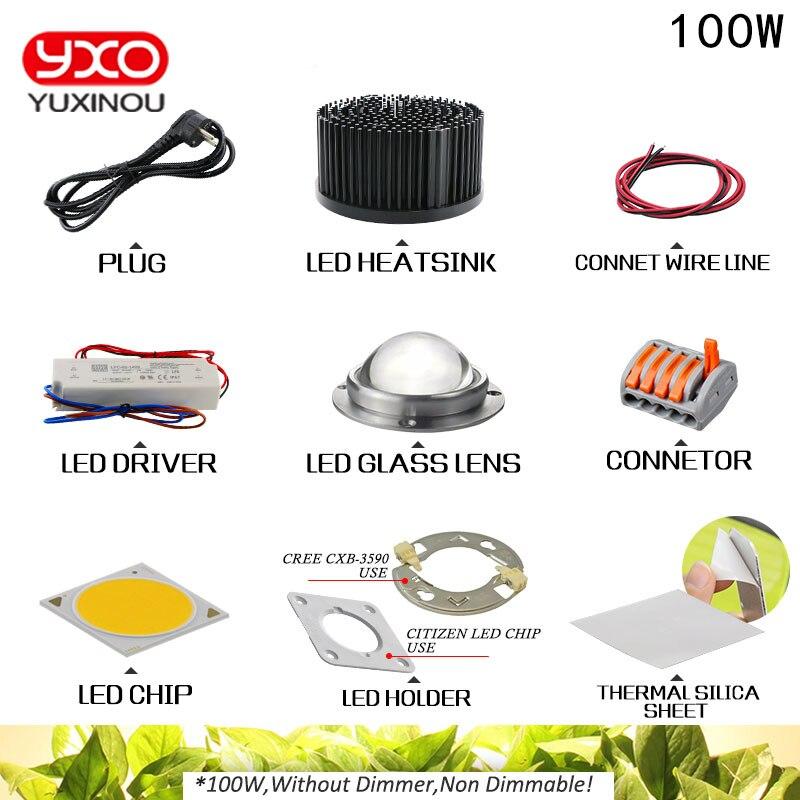 100 W 200 W 300 W CREE CXB3590 COB LED Élèvent La Lumière DIY Module Full Spectrum LED Élèvent La Lampe Plante D'intérieur Idéal Titulaire MEANWELL Pilote