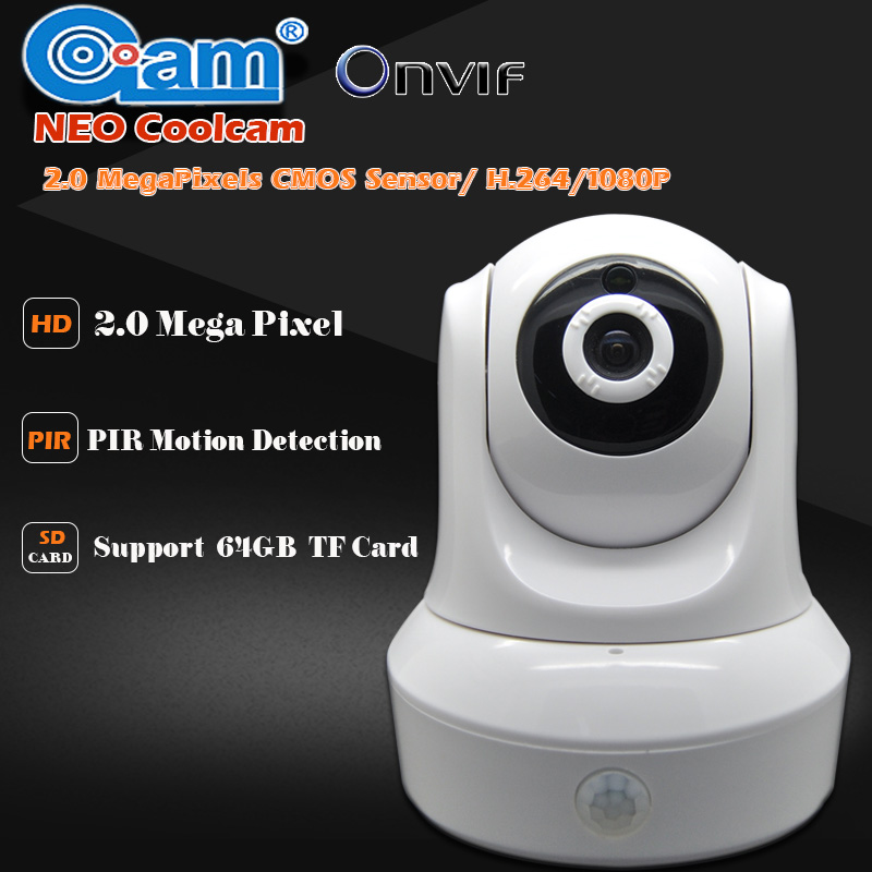 NEO Coolcam HD 1080P WIFI IP Camera 2.0MP Wireless Security Night View IP Cam CMOS Two-way Audio PIR Sensor Support TF 64GB Card neo coolcam hd 720p megapixel dome ip camera wifi pan tilt rotate p2p wireless support sd card ir night vision two way audio