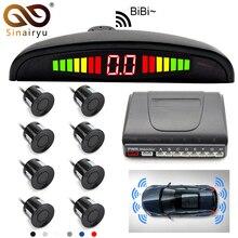 Sinairyu Resistente Alle Intemperie 8 Posteriore Vista Frontale Auto Sensore di Parcheggio di Inverso Corredo di Sostegno Del Radar con Display A LED Monitor di sistema di parcheggio auto