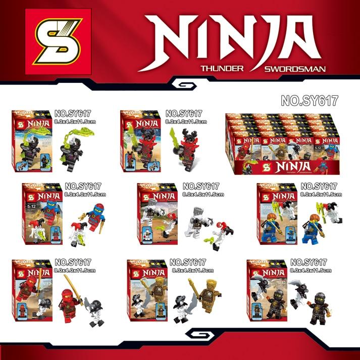 Wholesale 80PCS SY617 New Phantom Ninjagod Golden Ninja Jay Marvel SuperHero Minifigure bricks building blocks Toys for Children