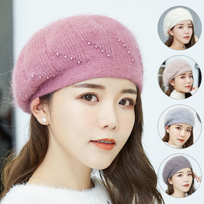 Apparel Accessories Strict Solid Lady Beret Hat For Winter High Quality Woman Elegant Berets Winter Hat Cartoon Embroidery Wool New Fashion 2017 Girl's Accessories