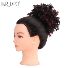 Hair Expo City 6inch Curly Chignon Synthetic Hair Drawstring Ponytail Updo Fake Hair Buns For Women Wedding Hairstyle