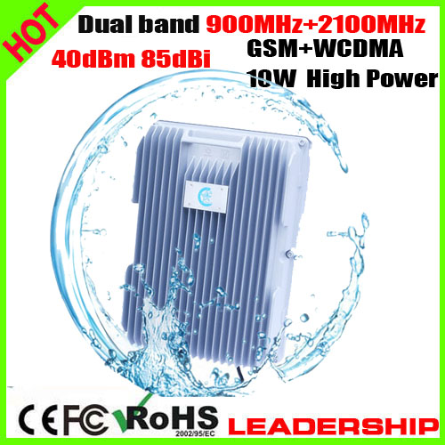 RF Dual Band GSM+WCDMA 3G W-CDMA 900mhz+2100mhz 10W 85dbi Cellular Mobile/cell Phone Signal Repeater Booster Amplifier Detector
