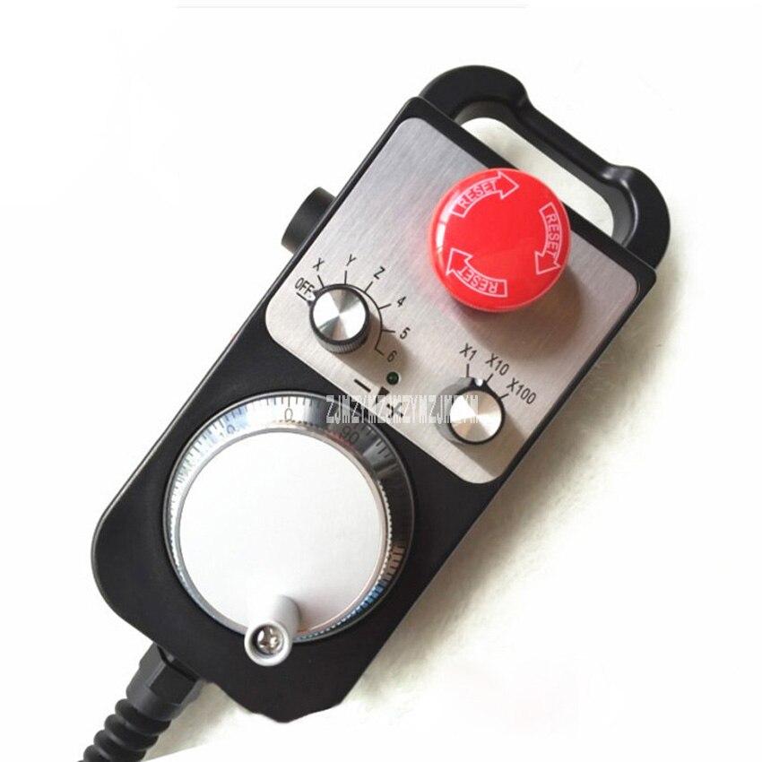 Новая Горячая ручка коробка MPG CNC токарный станок и фрезерный контроллер с аварийной остановкой самосброса контроллер гравировальной машины 5 в 6 осей