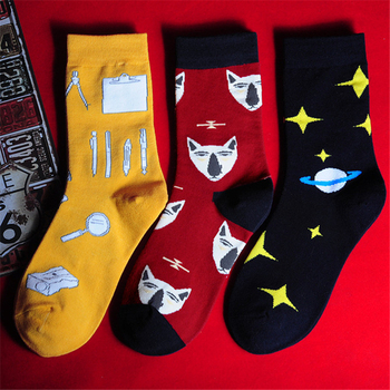 2019 Winter harajuku cartoon socks for women unisex cotton sock female casual hip hop skateboard funny socks male meias mujer Women Socks