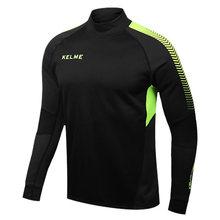 Kelme K089 Men Long Sleeve Thumb Buckle Training Light Board Team Sportswear Football Jersey Black