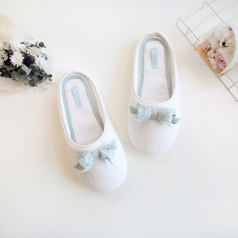 New Fashion Spring Summer Cute Bowknot Women Slippers Cotton Home House Bedroom Indoor Women Shoes baitclothing women cute spring