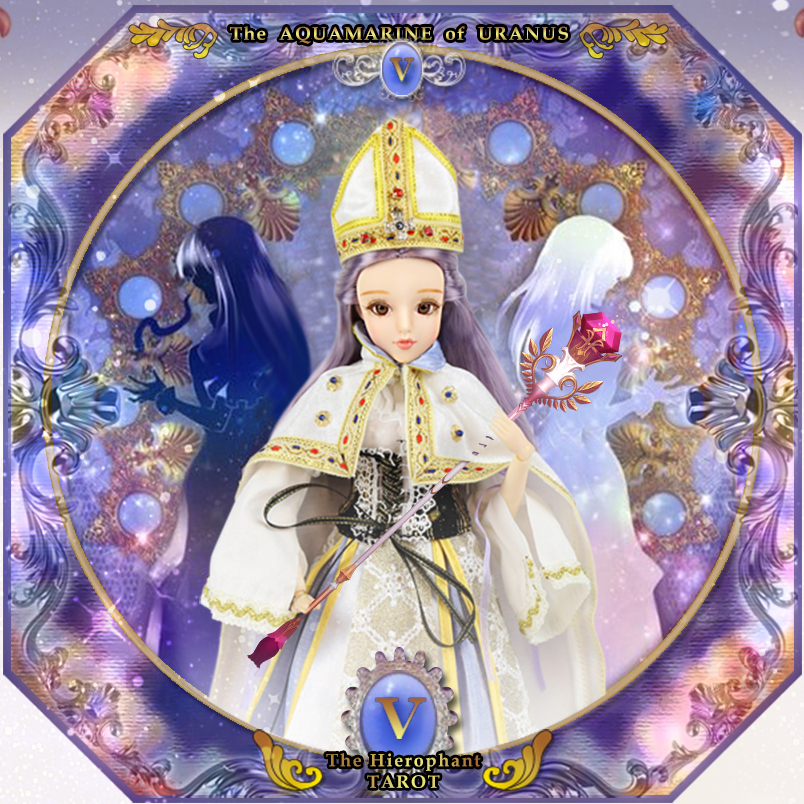 BJD 1/6 doll MMGirl Tarot Series 30cm Joint body doll Name is The Hierophant Dream Purple hair