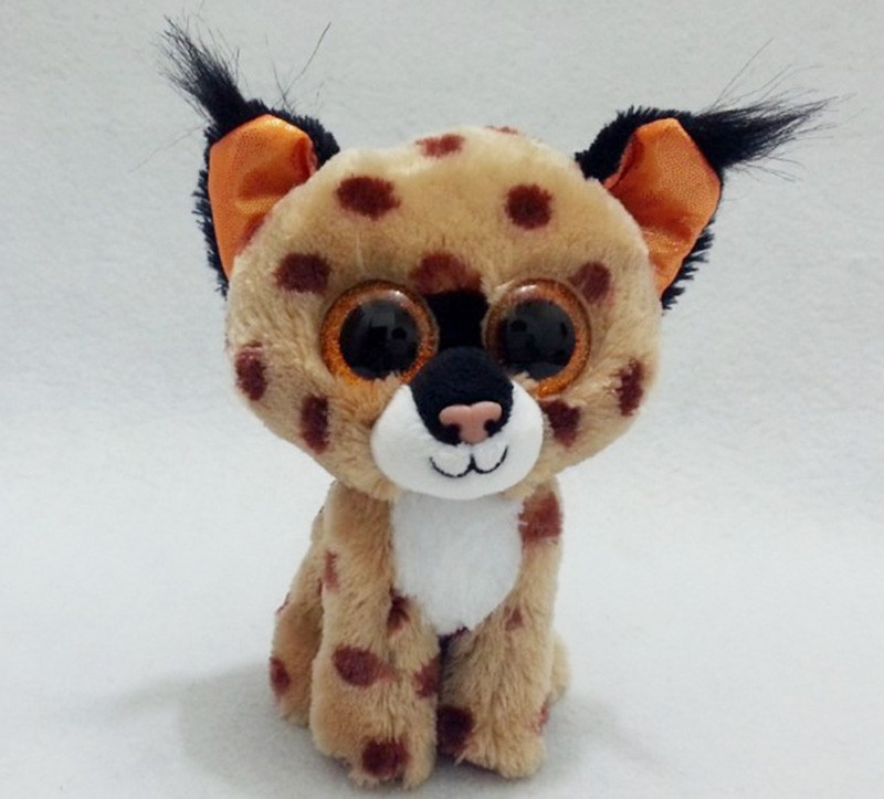 3ebaf0867ef Aliexpress.com   Buy TY BEANIE BOOS 1PC 15CM BIG EYES BUCKWHEAT BROWN LYNX  Plush Toys Stuffed animals from Reliable dinosaur toy suppliers on Black C  Toys