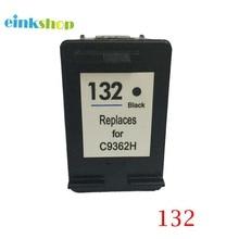 1Pcs 132 Cartridge for HP Black Ink For Officejet 6213 Deskjet 5443 D4163 Photosmart 2573 C3183 D5163 1513