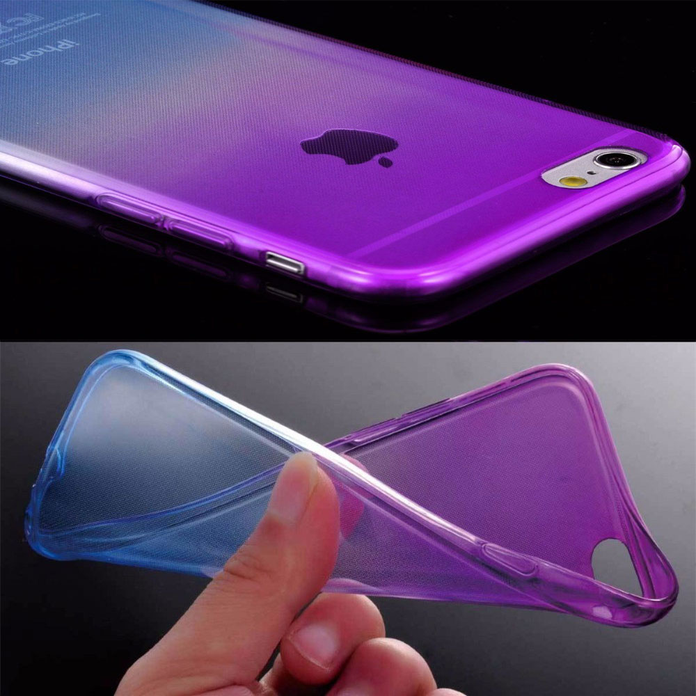110909ddc2d Ultra Thin Soft Silicone TPU Case for iPhone 6 Cover Clear Gradient Back  Cover Phone Case for Apple iPhone 6 6S Accessories Capa