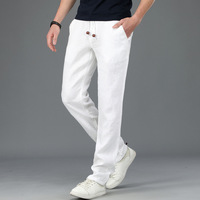 ICPANS White Linen Pants Men Summer Joggers Thin Male Sweatpants Trousers Casual Trousers Man Straights 2019 Plus Size M 4XL
