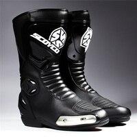 Scoyco MTB004 Motorcycle Motos Racing Boots Motocross OFF Road Riding Motorbike Shoes Motocicleta Botas