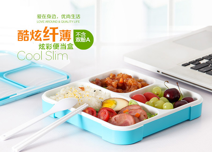 Lunch Boxs 5 Slots Practical Leak-Proof Bento Box Portable Lunchbox Good Quality Picnic Box 5 Compartments Food Container best leak proof bento lunchbox