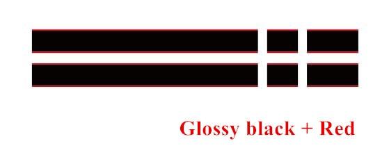 Автомобильный капот крышка двигателя виниловая наклейка авто задний багажник линии наклейки на капот Спорт полоса для Mini Coopers F54 F55 F56 R56 R57 R58 - Название цвета: Glossy black-Red