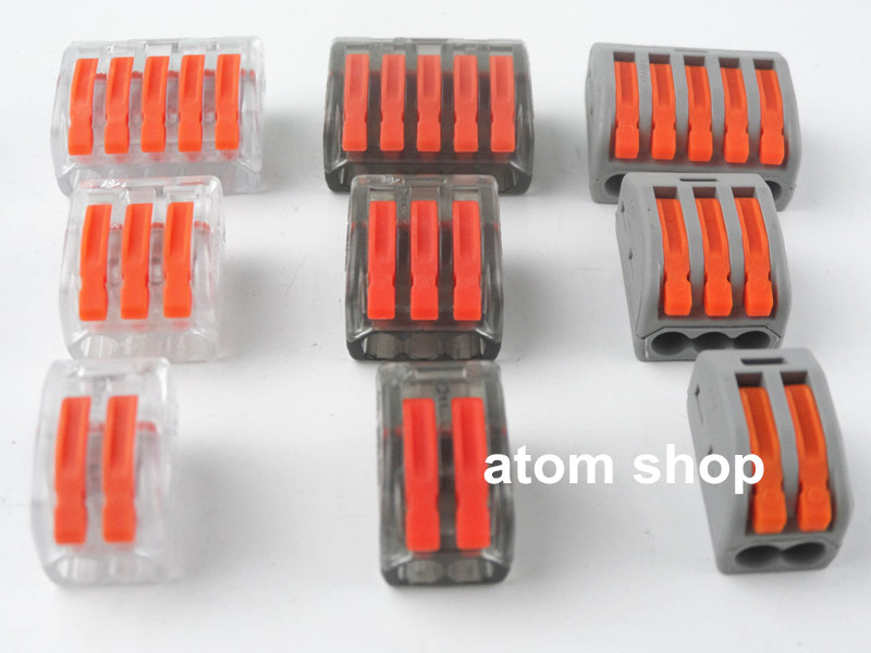 1pcs Wire Connector 2hole 3 hole 5 hole Conductor Terminal Block 222-412  222-413 222-415quick joint, pressure line cap 1792951[pluggable terminal blocks mvstbw 2 5 22 st 5 0] mr li