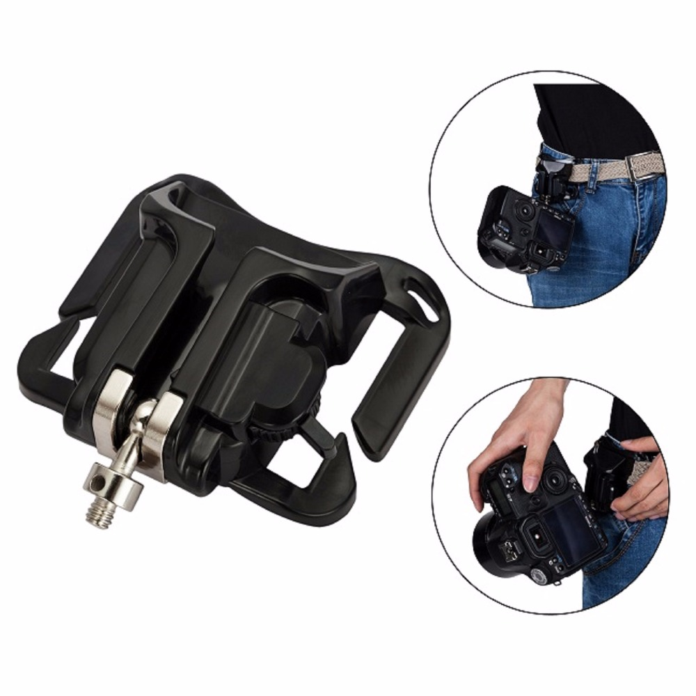 Meking Fast Loading Camera Photo Holster Waist Belt Buckle Button Straps Accessories For DSLR Camera