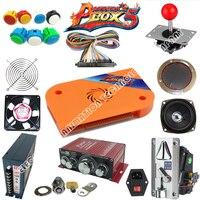 Jamma Аркады DIY Kit для 680 в 1 коробка 4S игры borad pcb джойстик LED кнопочный Провода жгут источника питания динамик