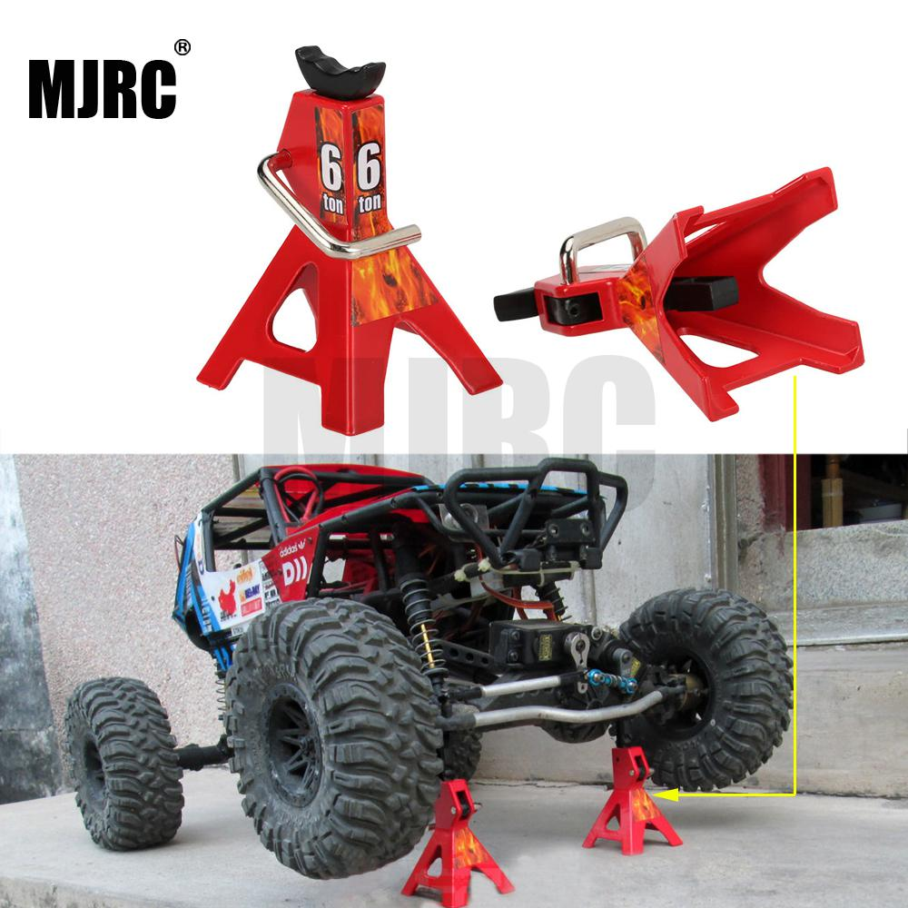 2pcs/set RC Cars Metal Jack Stands Repairing Tool for 1/10 RC Climbing Car Crawler Diecasts Vehicles Model Parts Accessories Toy(China)