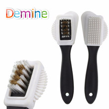 Demine Suede Shoes Brush Cleaning for Suede Nubuck Boot Sneaker Long Handle Cleaner Shoe Care Accessories Wholesale Brushes(China)