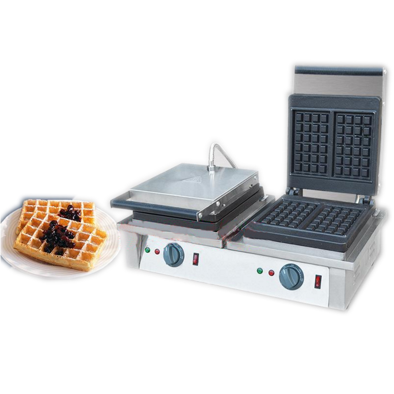 Double-headed waffle stove Square muffin machine Electric baking machine Stainless steel waffle furnace FY - 2202
