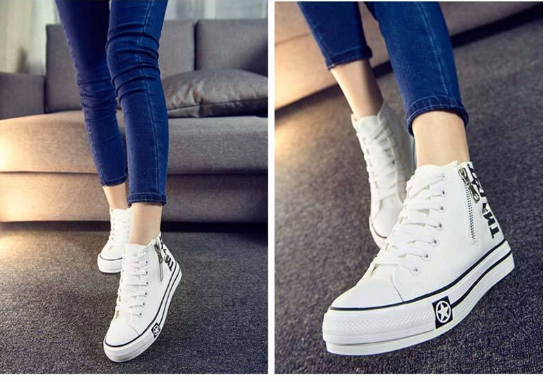 Free Shipping Spring and Autumn Men Canvas Shoes High Quality Fashion Casual Shoes Low Top Brand Single Shoes Thick Sole 7583 -  -  -  -  (2) -  -